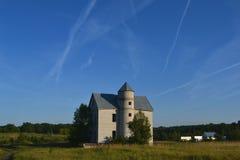 Landschapshuis in het hout Stock Foto