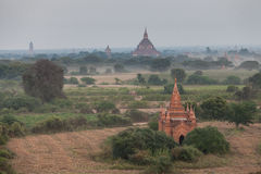 Landschapsmening van Bagan-ruïnes, Myanmar Stock Afbeeldingen