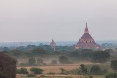 Landschapsmening van Bagan-ruïnes, Myanmar stock fotografie
