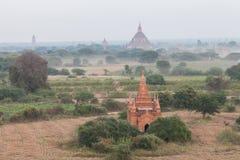 Landschapsmening van Bagan-ruïnes, Myanmar Royalty-vrije Stock Foto's
