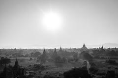 Landschapsmening van Bagan-ruïnes, Myanmar stock foto's