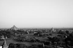 Landschapsmening van Bagan-ruïnes, Myanmar stock foto