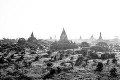 Landschapsmening van Bagan-ruïnes, Myanmar royalty-vrije stock foto