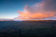 Landschapsmening van Blauw bergen nationaal park Stock Afbeeldingen