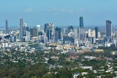 Landschapsmening van de stad van Brisbane van het vooruitzicht van MT koet-Tha royalty-vrije stock fotografie