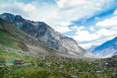 Landschapsmening van de waaier van Himalayagebergte in zanskar leh ladakh India Royalty-vrije Stock Afbeeldingen