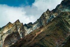 Landschapsmening van de waaier van Himalayagebergte in zanskar leh ladakh India Royalty-vrije Stock Foto