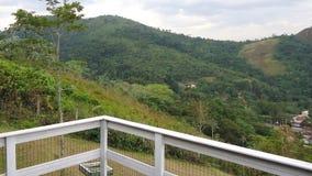 Landschapsmening van een balkon stock afbeeldingen