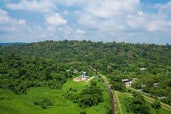 Landschapsmening van Khun Dan Prakarn Chon Dam in Nakhon Nayok, T Royalty-vrije Stock Fotografie