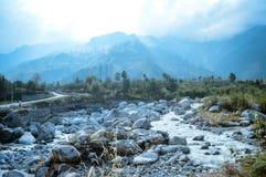 Landschapsmening van Manali-Stad royalty-vrije stock foto's