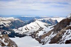 Landschapsmening van MT Jungfrau Stock Foto's