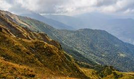 Landschapsmening van Poon Hill, Nepal stock afbeelding