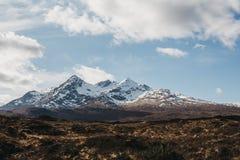 Landschapsmening van Schotse Hooglanden, Schotland stock afbeeldingen