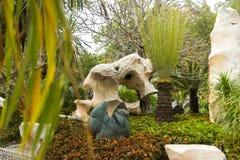 Landschapsontwerp in Miljoen van het Steenjaar Park in Pattaya, Thailand Royalty-vrije Stock Foto's