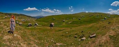 Landschapspanorama van Adjara-gebied van Georgië Stock Fotografie