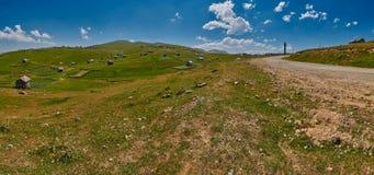 Landschapspanorama van Adjara-gebied van Georgië Stock Afbeeldingen