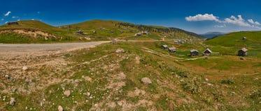 Landschapspanorama van Adjara-gebied van Georgië Royalty-vrije Stock Foto's