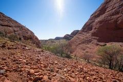 Landschapspanorama van het Karu-vooruitzicht in Olgas in binnenland Australië royalty-vrije stock afbeelding