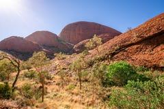 Landschapspanorama van het Karu-vooruitzicht in Olgas in binnenland Australië royalty-vrije stock foto