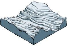Landschapssectie vector illustratie