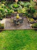 Landschapstuin en terras in België Royalty-vrije Stock Foto