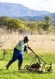Landschapstuinman die in Zuid-Afrika werken royalty-vrije stock afbeeldingen