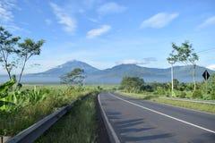 Landschapsweg aan de berg Royalty-vrije Stock Foto