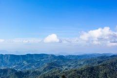Landschapswolken op hemel Stock Foto