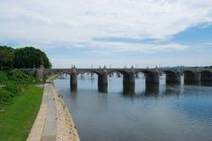 Landscpae της ακτής ποταμών Susquehanna στο Χάρισμπουργκ, Πενσυλβανία στοκ εικόνες