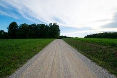 Landscpae аграрного края с вырезыванием дороги до конца в Sout Стоковые Изображения RF