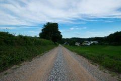Landscpae аграрного края с вырезыванием дороги до конца в Sout Стоковая Фотография RF
