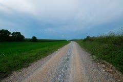 Landscpae аграрного края с вырезыванием дороги до конца в Sout Стоковые Изображения