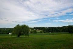 Landscpae des Ackerlandes in Süd-Pennsylvania lizenzfreies stockbild
