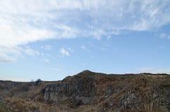Landscpae II van basaltkolommen Stock Foto's