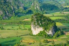 Landscpae view of Pu langka (lang ka mountain) in day time,Phaya Royalty Free Stock Image