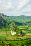Landscpae view of Pu langka (lang ka mountain) in day time,Phaya Stock Photo