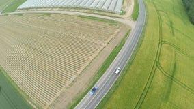 Landscpane aéreo de la calle en Alemania almacen de metraje de vídeo