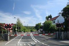 landscrossingjärnväg Royaltyfria Foton