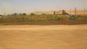 Landseite vom Zug Assuan Ägypten Afrika stock video