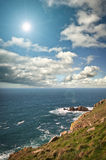 Landsend, Cornwall, England. The rocks and cliff face at Landsend, England Royalty Free Stock Photo