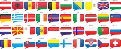landseuropeanflaggor Royaltyfri Bild