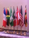 Landsflaggor royaltyfri fotografi