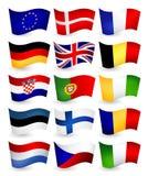 Landsflyget för europeisk union sjunker del 1 Royaltyfria Bilder