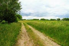 Landsgrusväg Arkivbild