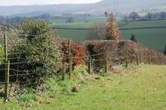 Landshäck med staket Royaltyfria Foton