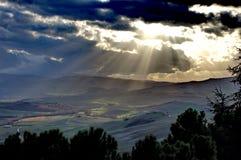 Landshape - Pienza toscanos Imagen de archivo libre de regalías