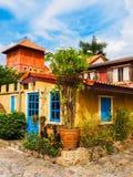 Landshus i Asien Arkivfoto