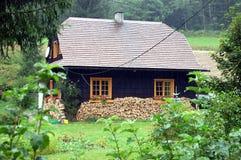 Landshus i den tjeckiska republiken Arkivfoton