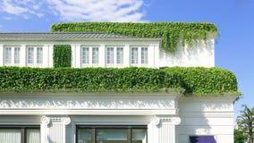 Landshus med gräs överst Royaltyfria Foton