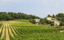 Landshus nära Montpellier Royaltyfri Foto